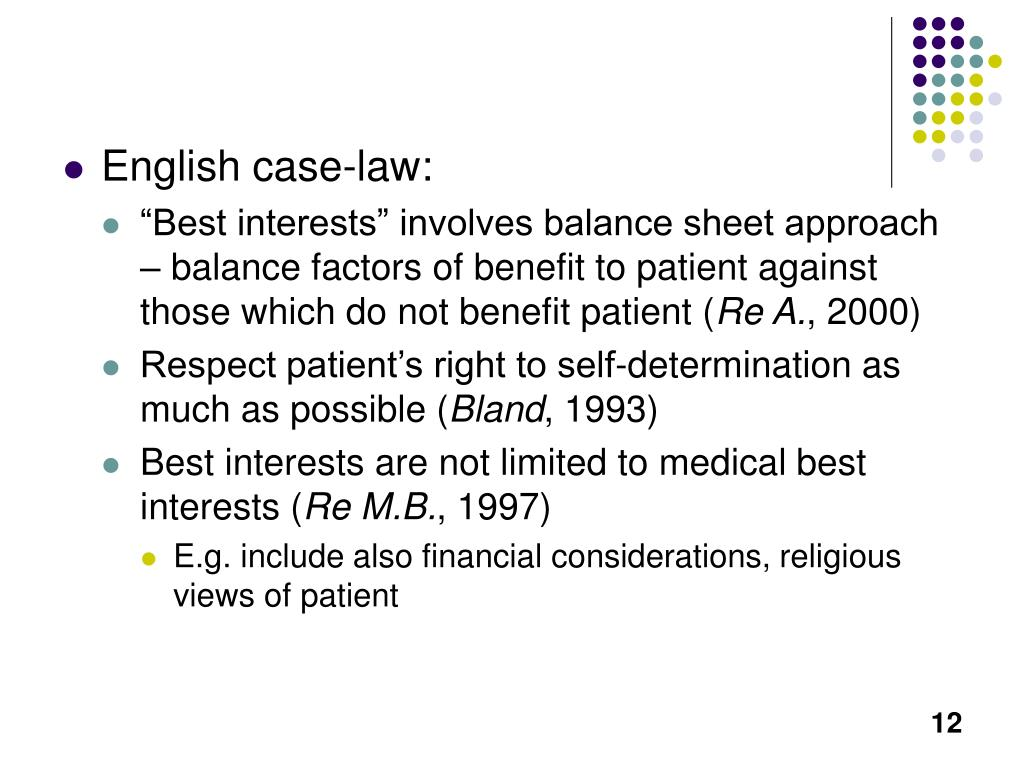 English case-law: