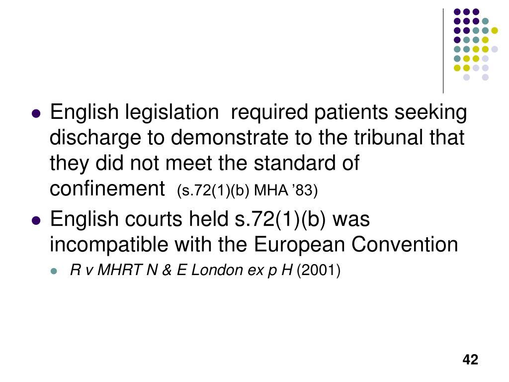 English legislation