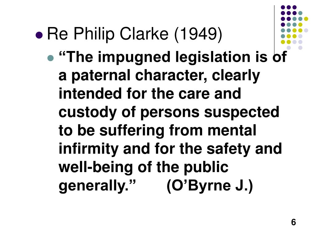 Re Philip Clarke (1949)