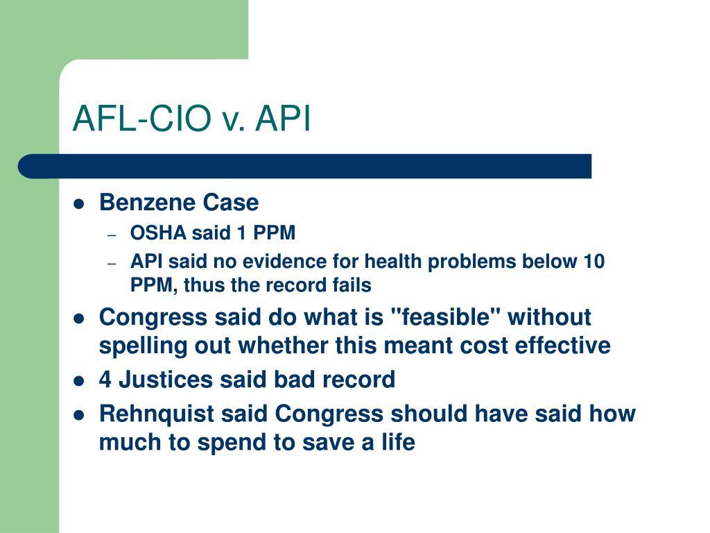 AFL-CIO v. API