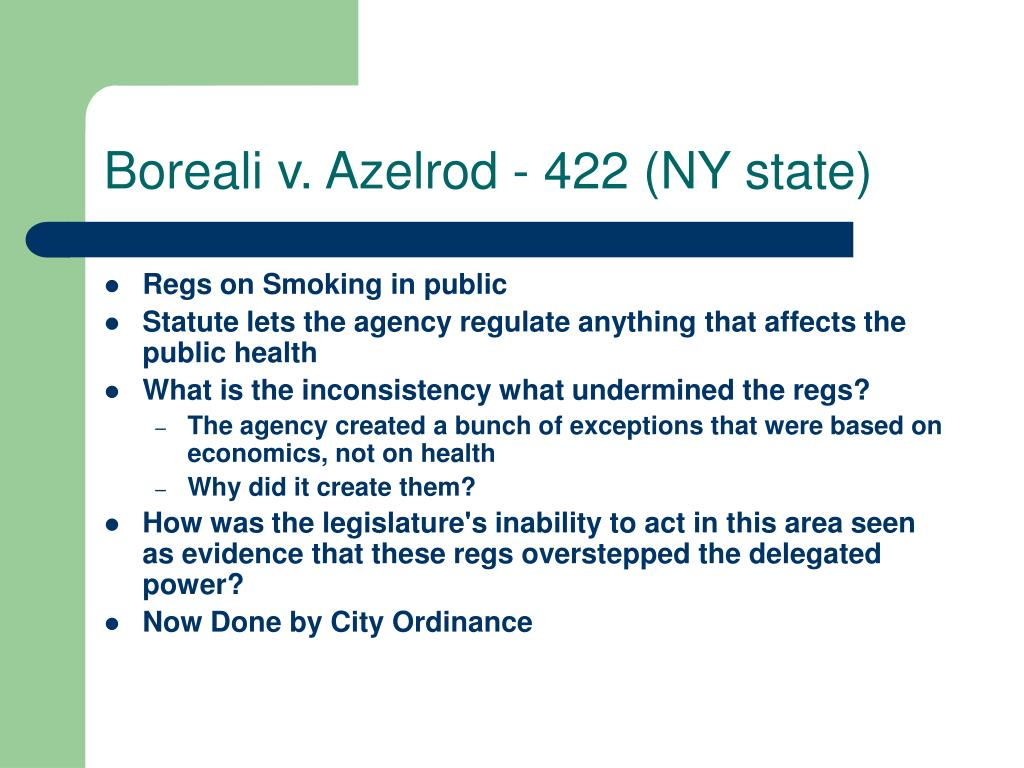 Boreali v. Azelrod - 422 (NY state)