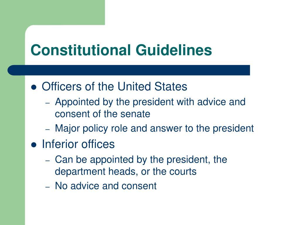 Constitutional Guidelines