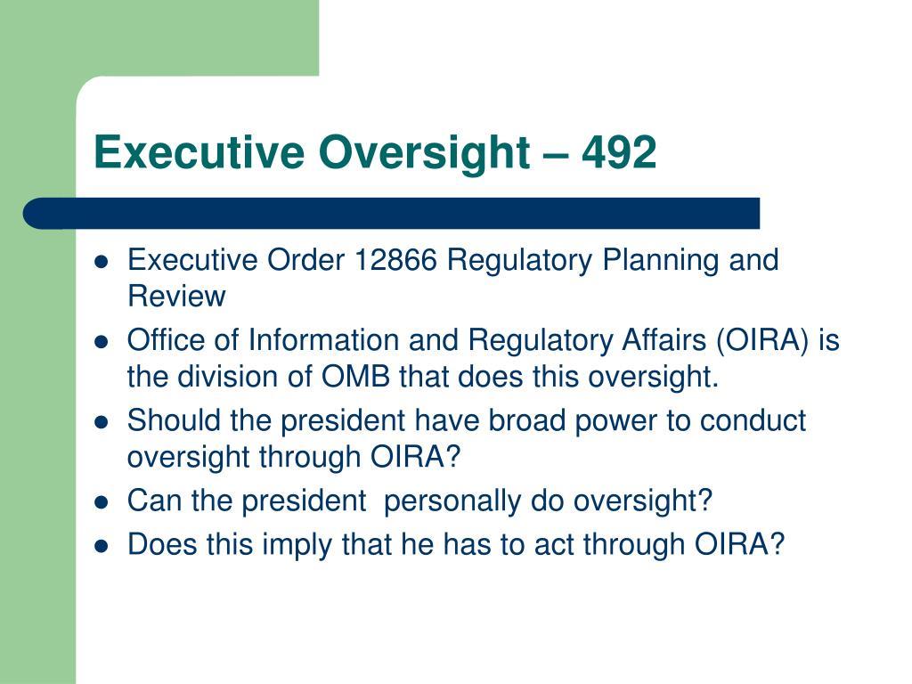 Executive Oversight – 492