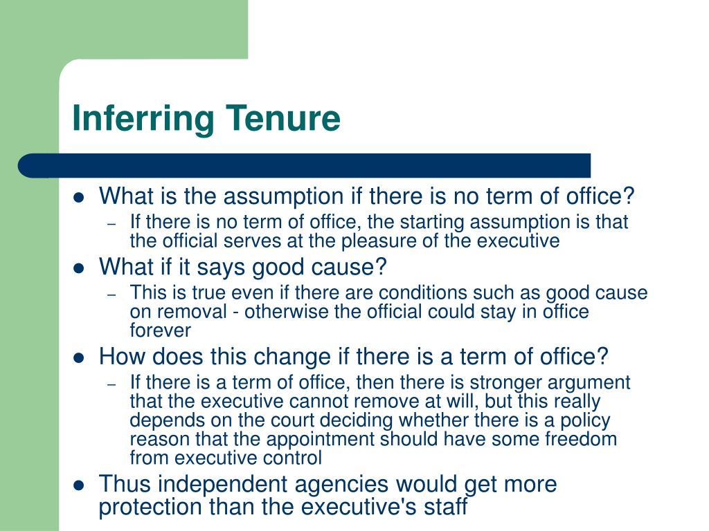 Inferring Tenure