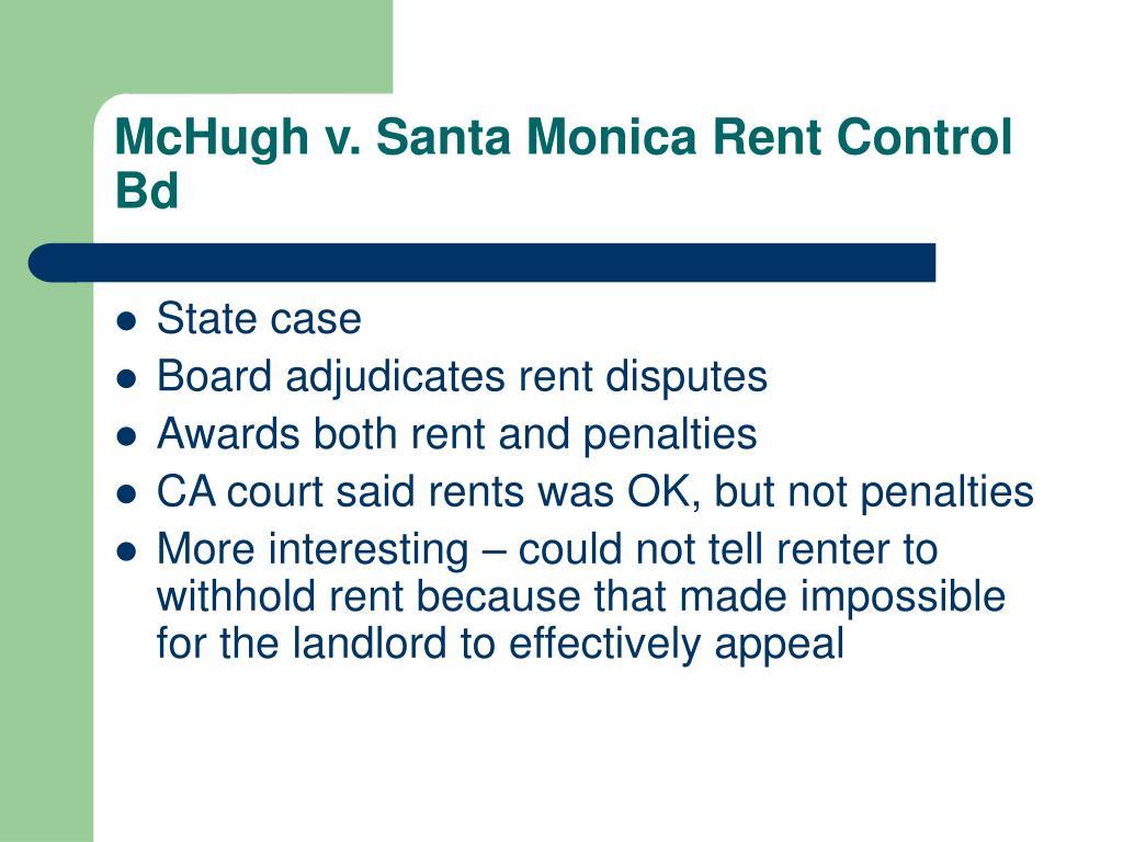 McHugh v. Santa Monica Rent Control Bd