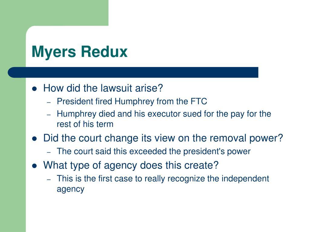 Myers Redux