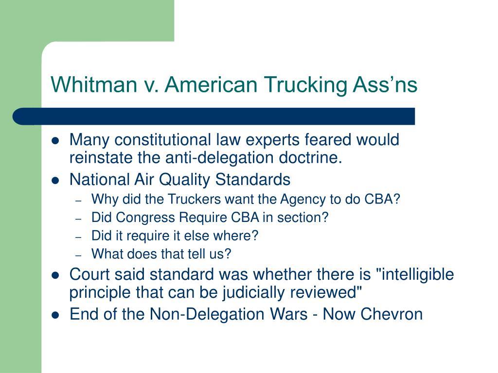 Whitman v. American Trucking Ass'ns