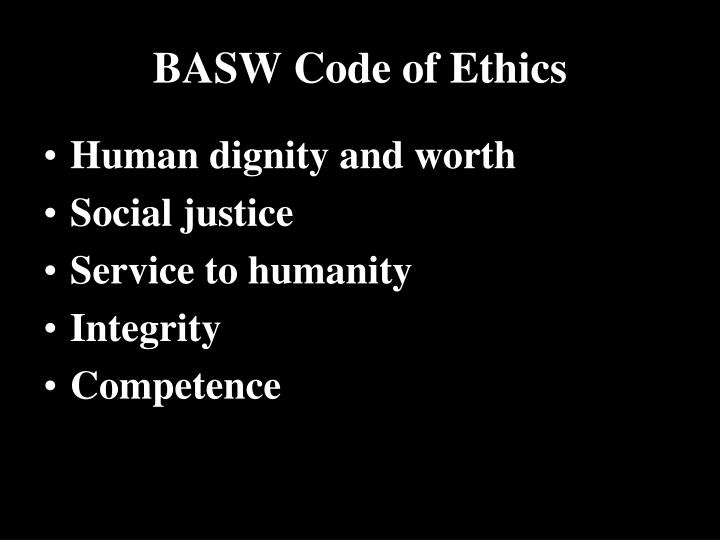 Basw code of ethics