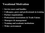vocational motivation