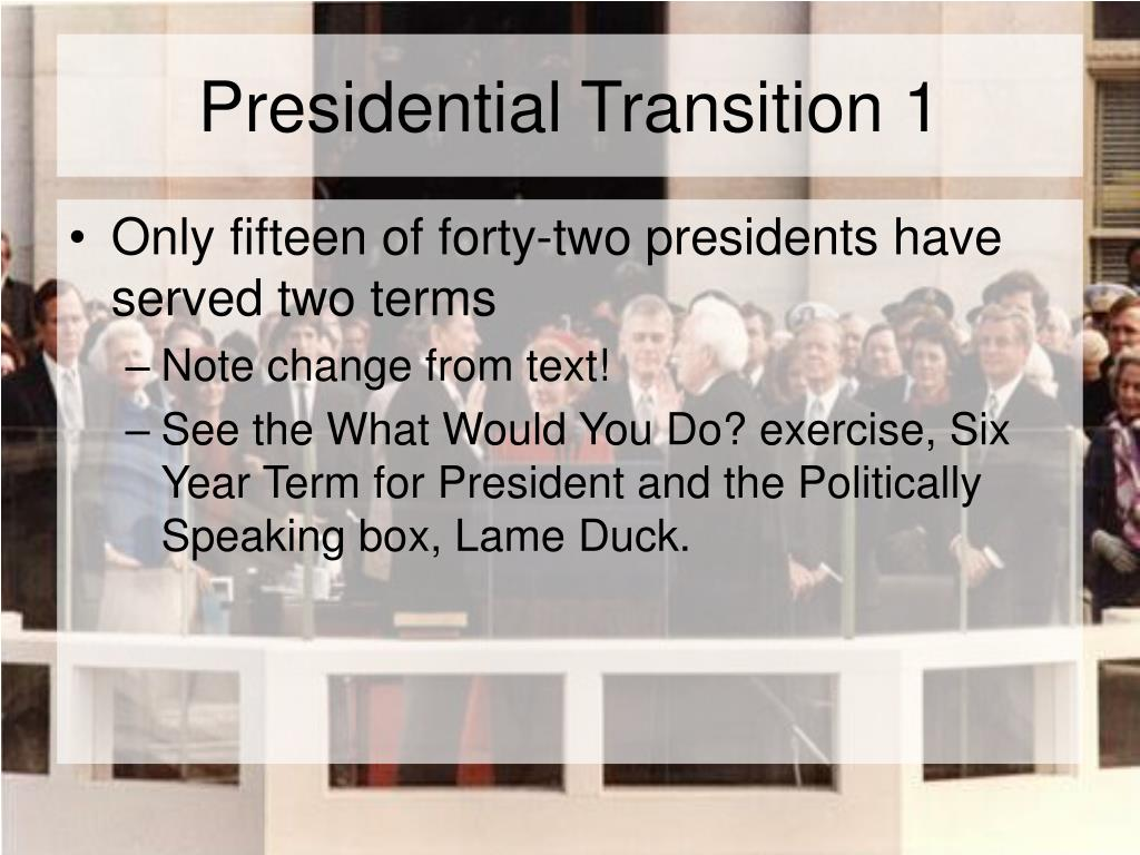 Presidential Transition 1