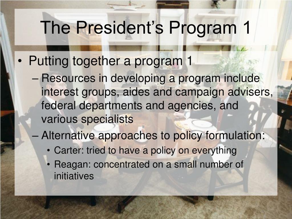 The President's Program 1