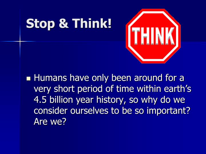Stop & Think!