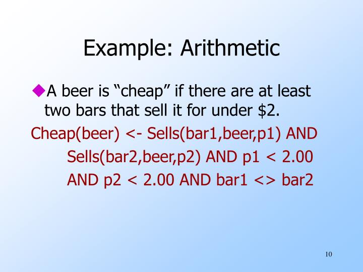 Example: Arithmetic