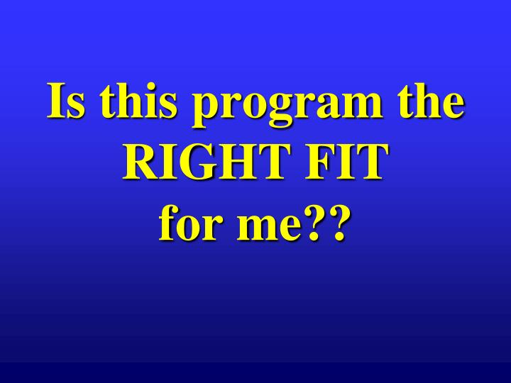 Is this program the