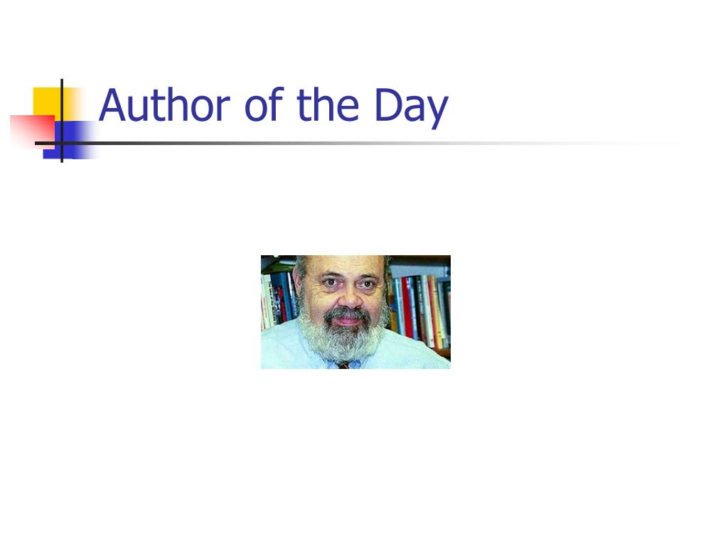 Author of the Day