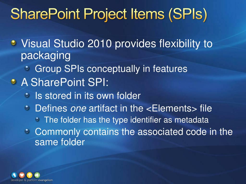 SharePoint Project Items (SPIs)