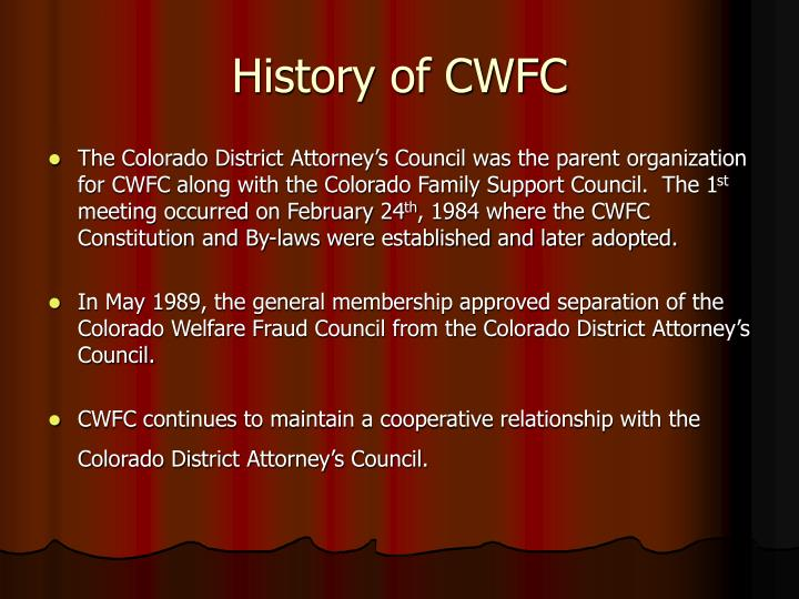 History of cwfc
