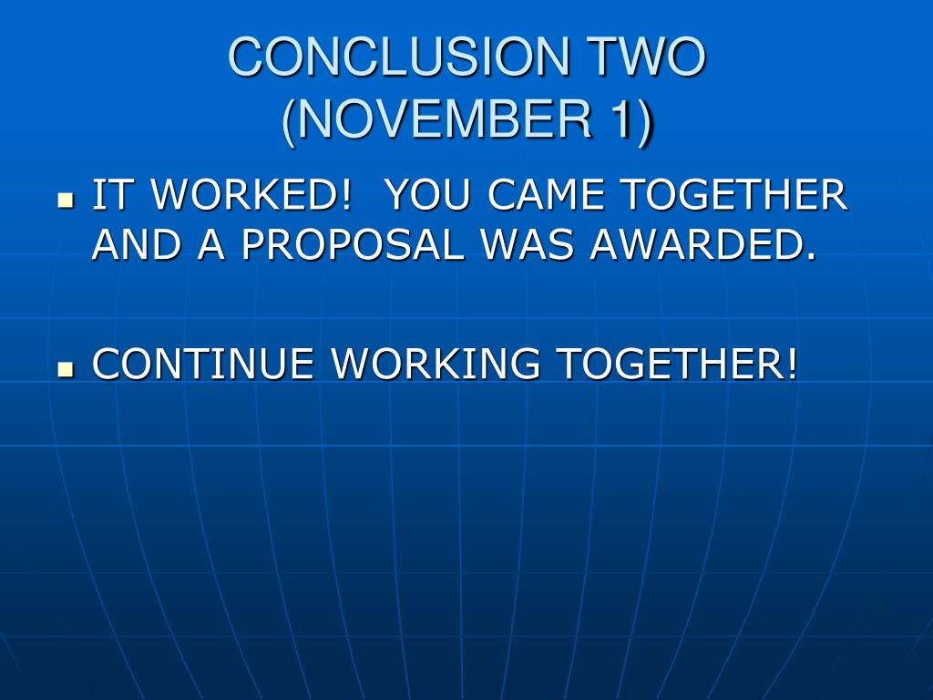 CONCLUSION TWO