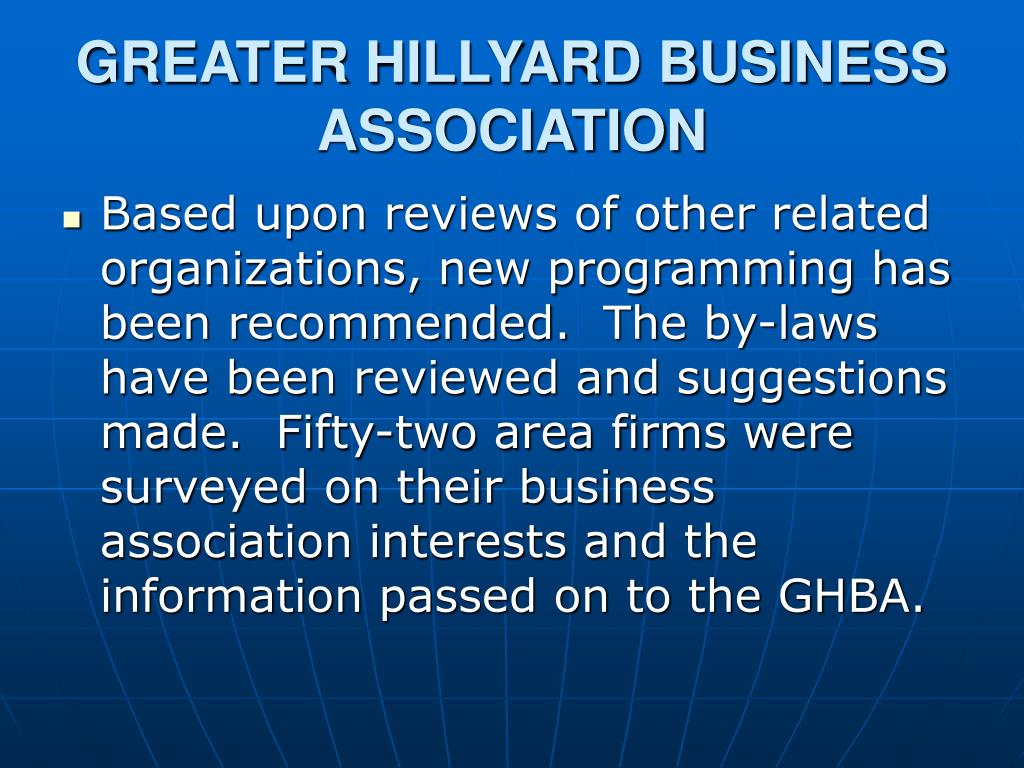 GREATER HILLYARD BUSINESS ASSOCIATION
