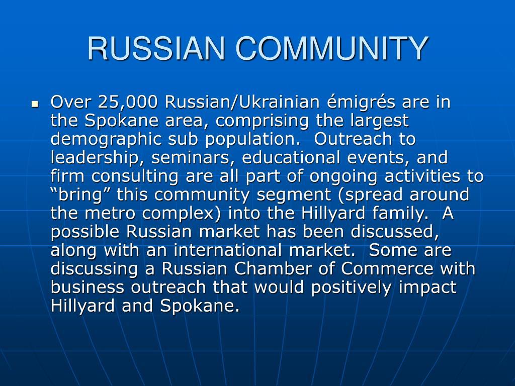 RUSSIAN COMMUNITY