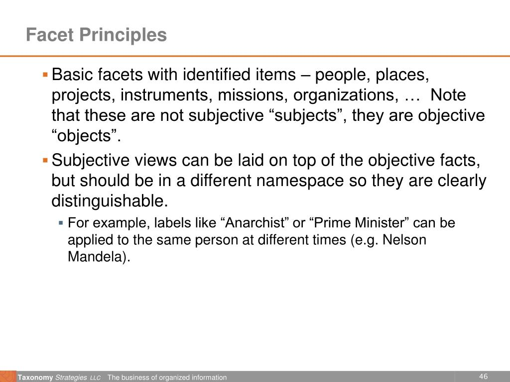 Facet Principles