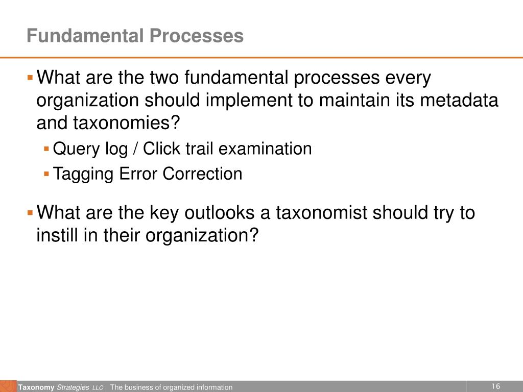 Fundamental Processes