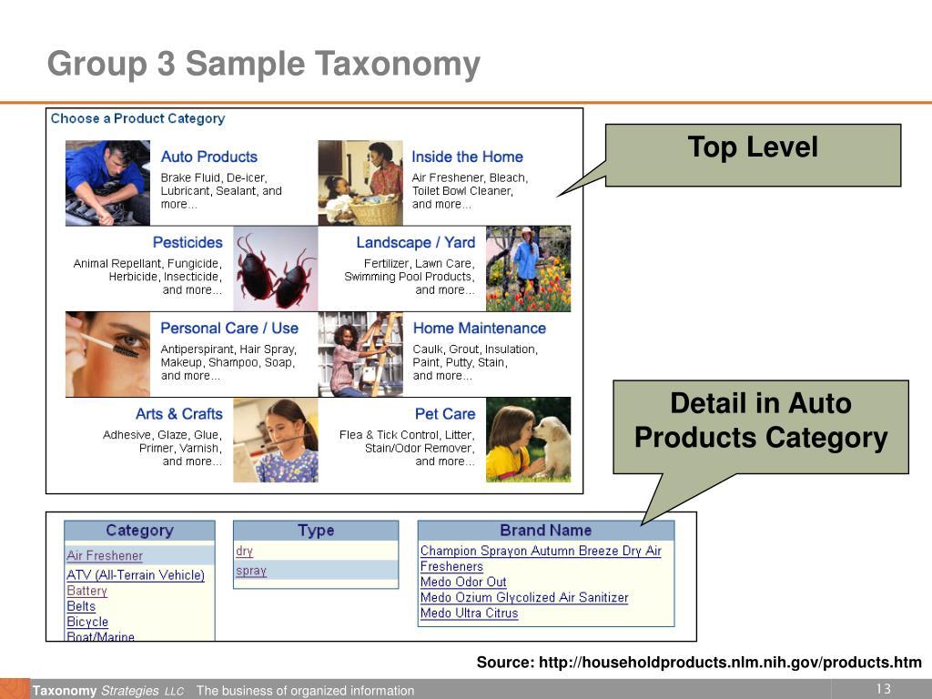Group 3 Sample Taxonomy