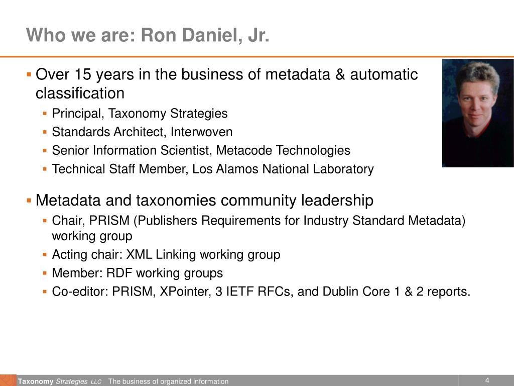 Who we are: Ron Daniel, Jr.