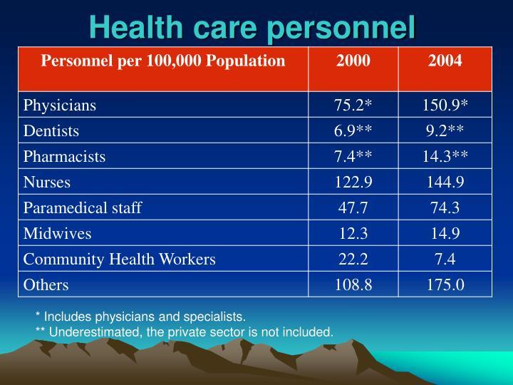 Health care personnel