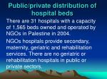 public private distribution of hospital beds1