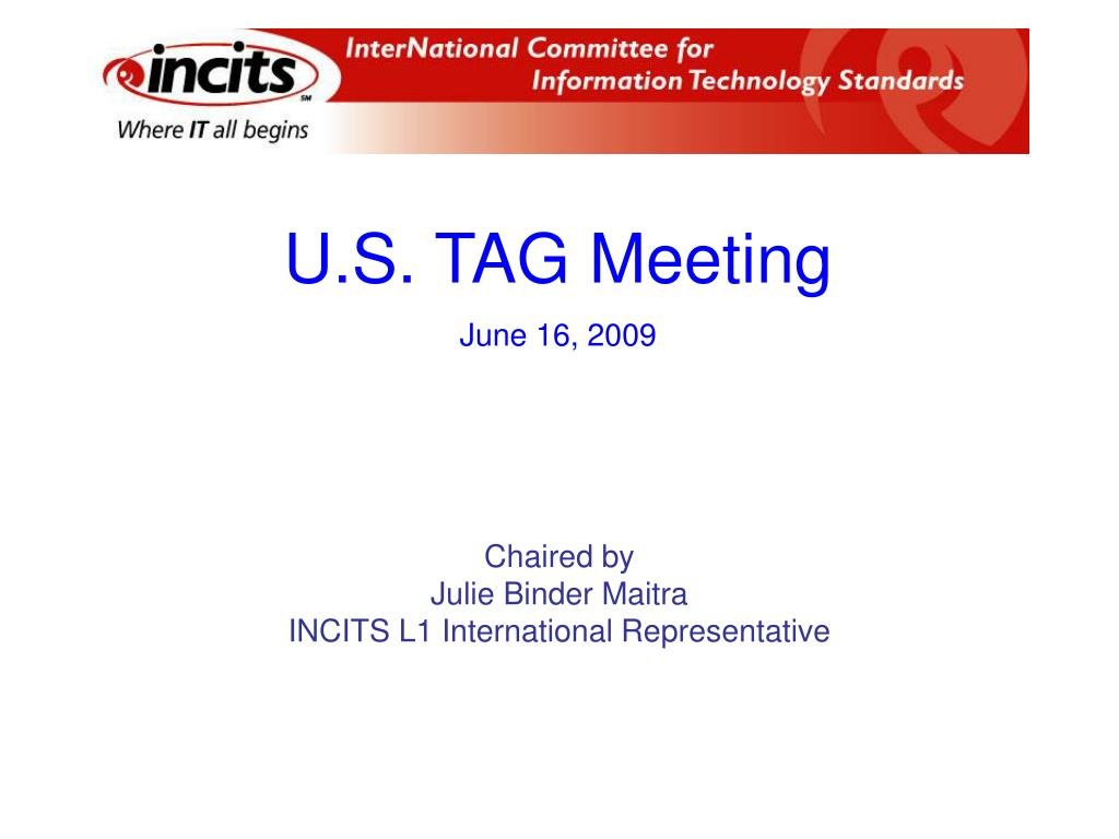 U.S. TAG Meeting