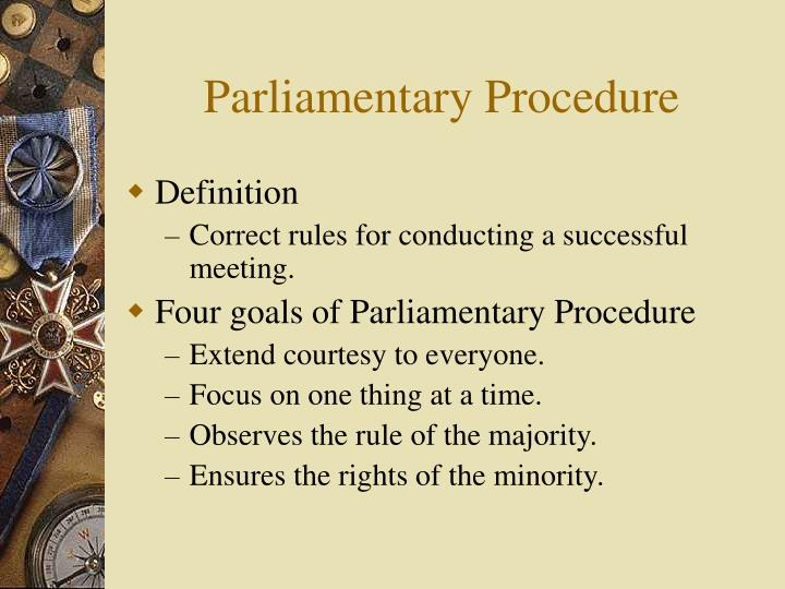 Parliamentary procedure2
