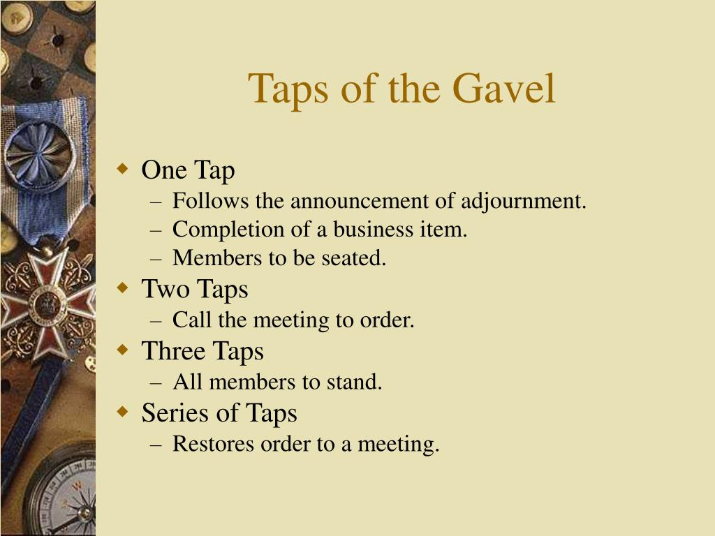 Taps of the Gavel