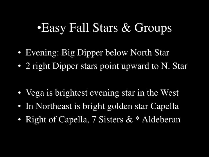 Easy Fall Stars & Groups