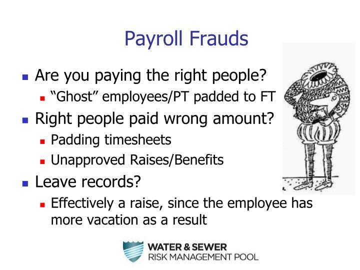 Payroll Frauds