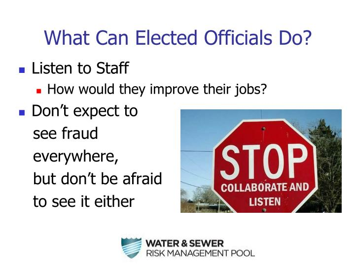 What Can Elected Officials Do?