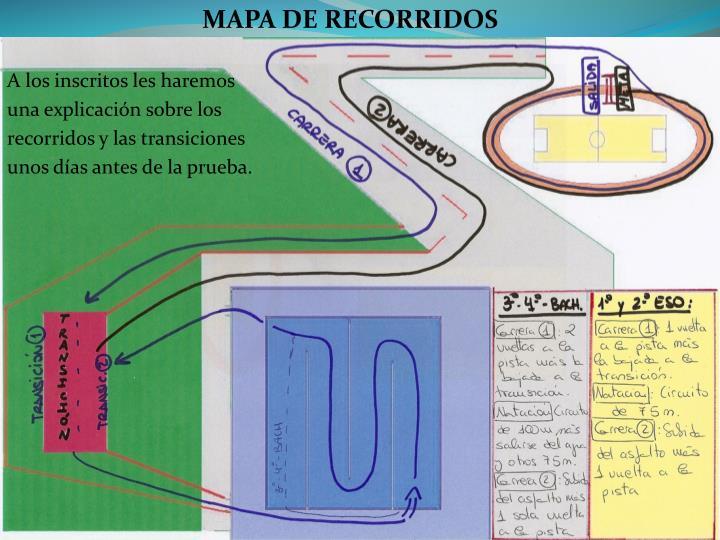 MAPA DE RECORRIDOS