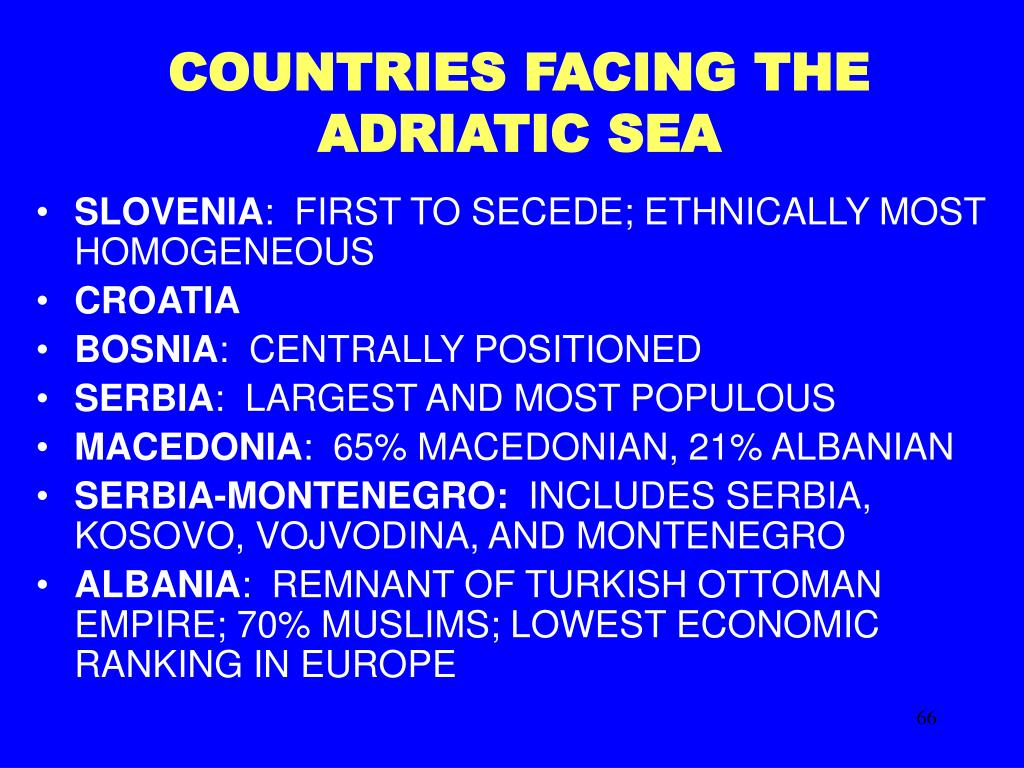 COUNTRIES FACING THE ADRIATIC SEA