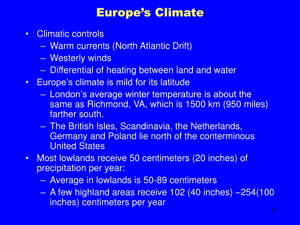 Europe's Climate