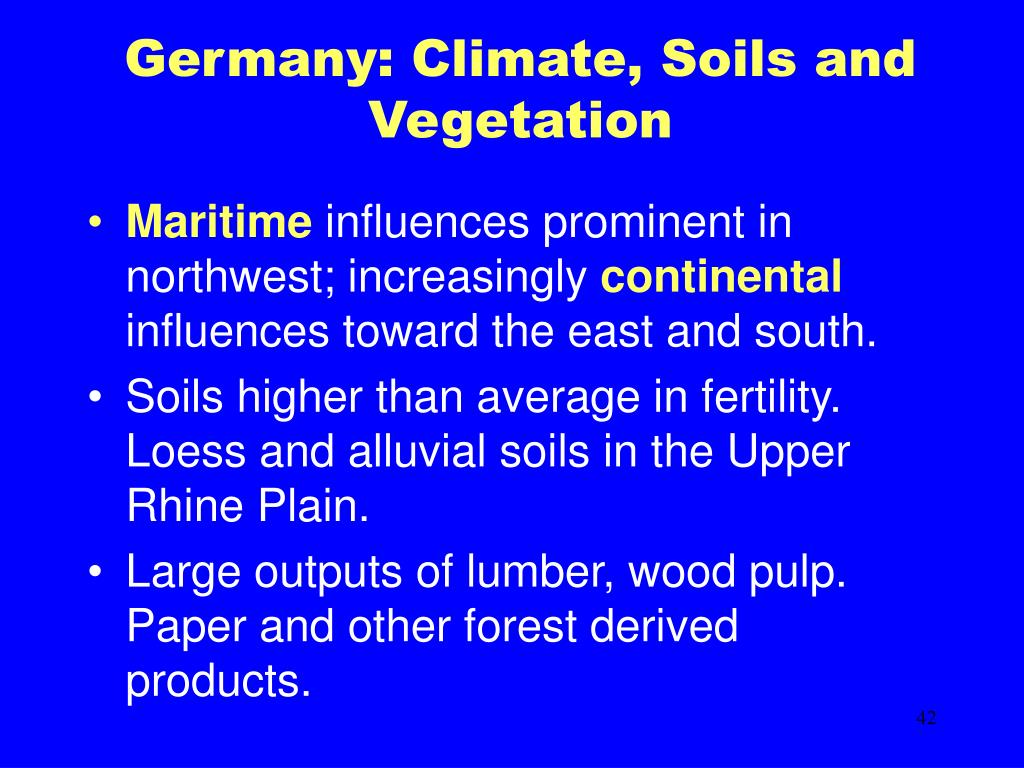 Germany: Climate, Soils and Vegetation
