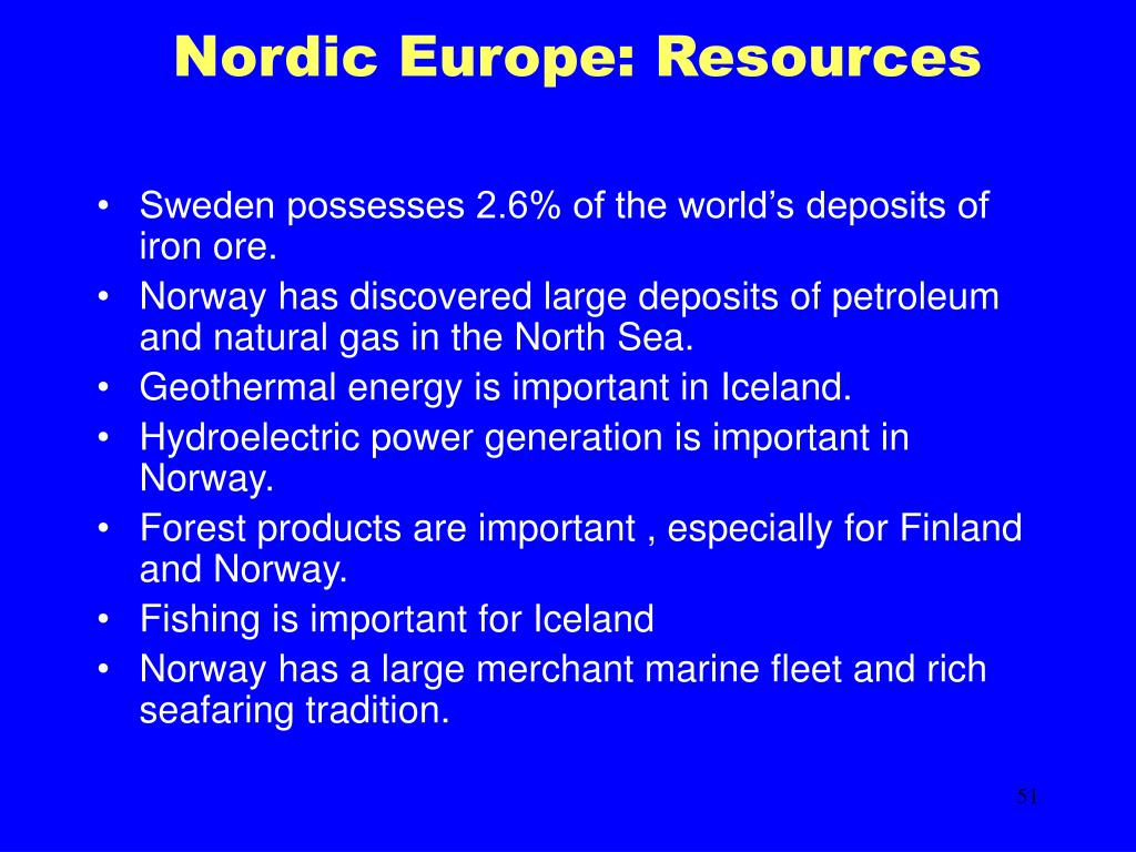 Nordic Europe: Resources