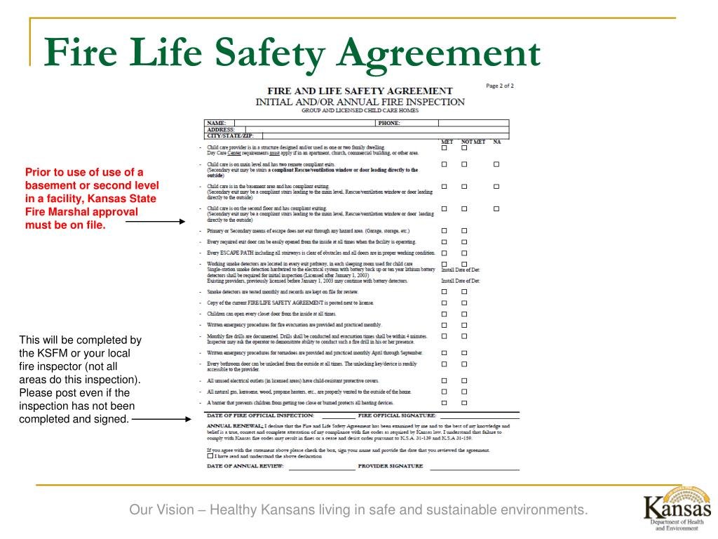 Fire Life Safety Agreement