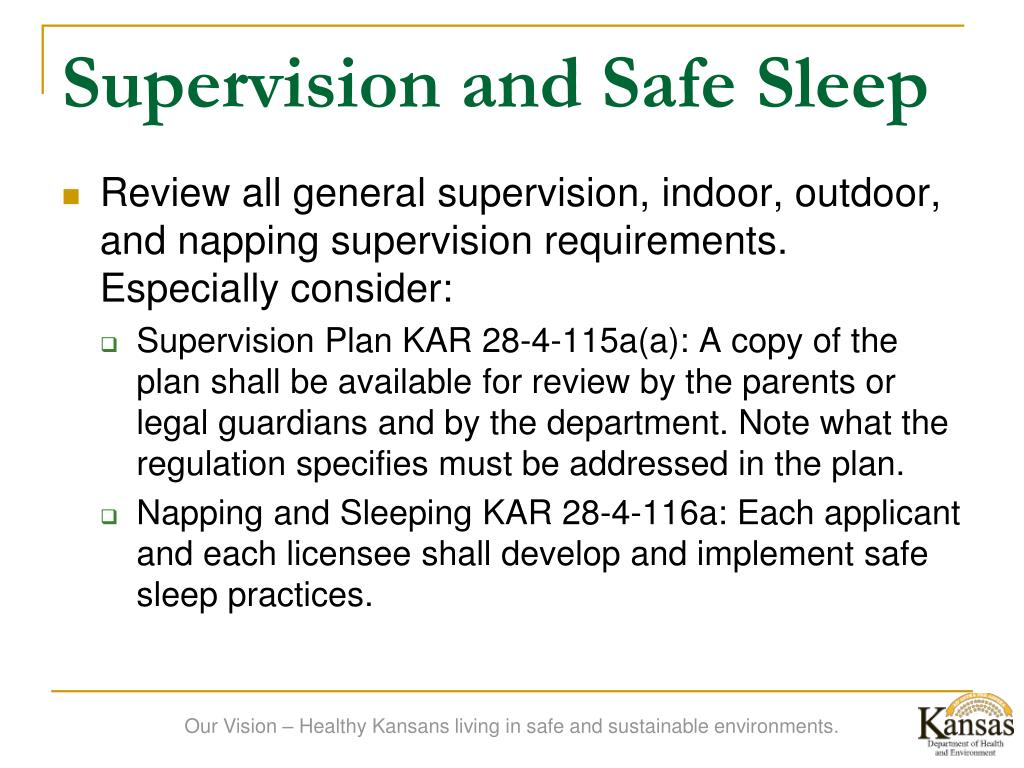 Supervision and Safe Sleep