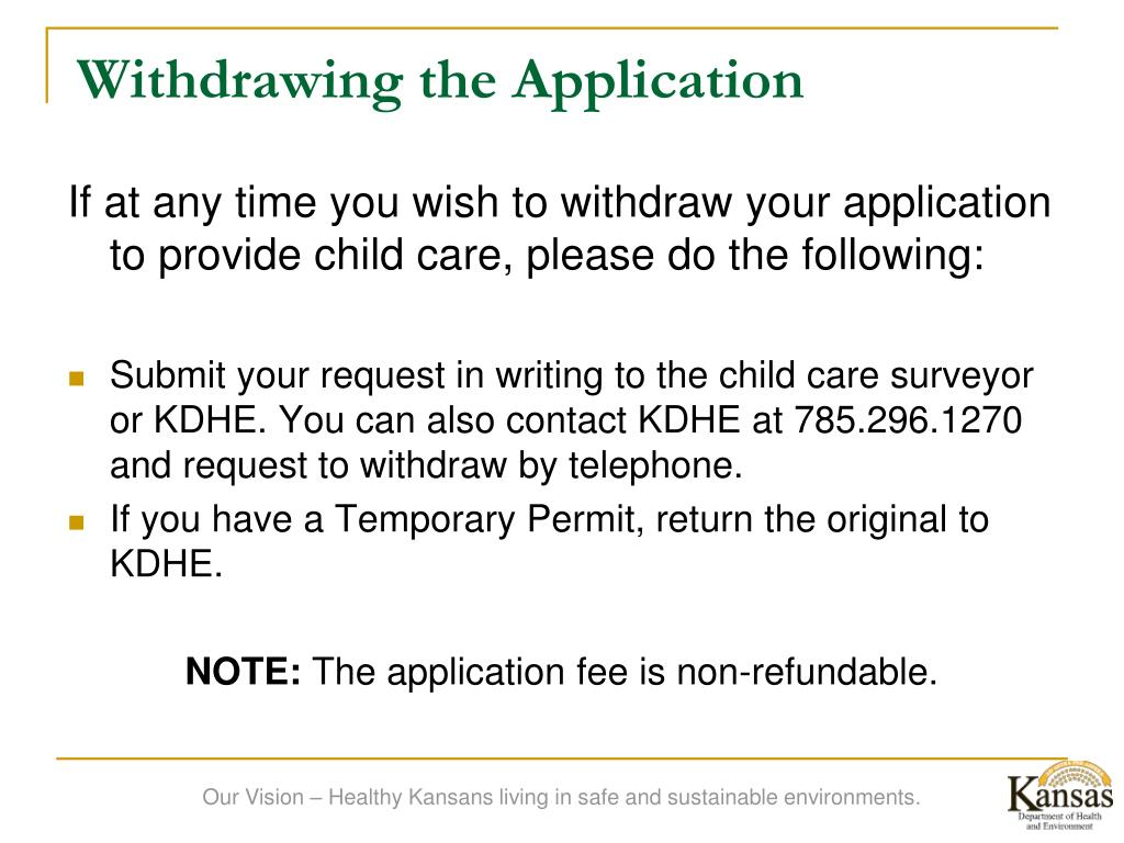 Withdrawing the Application