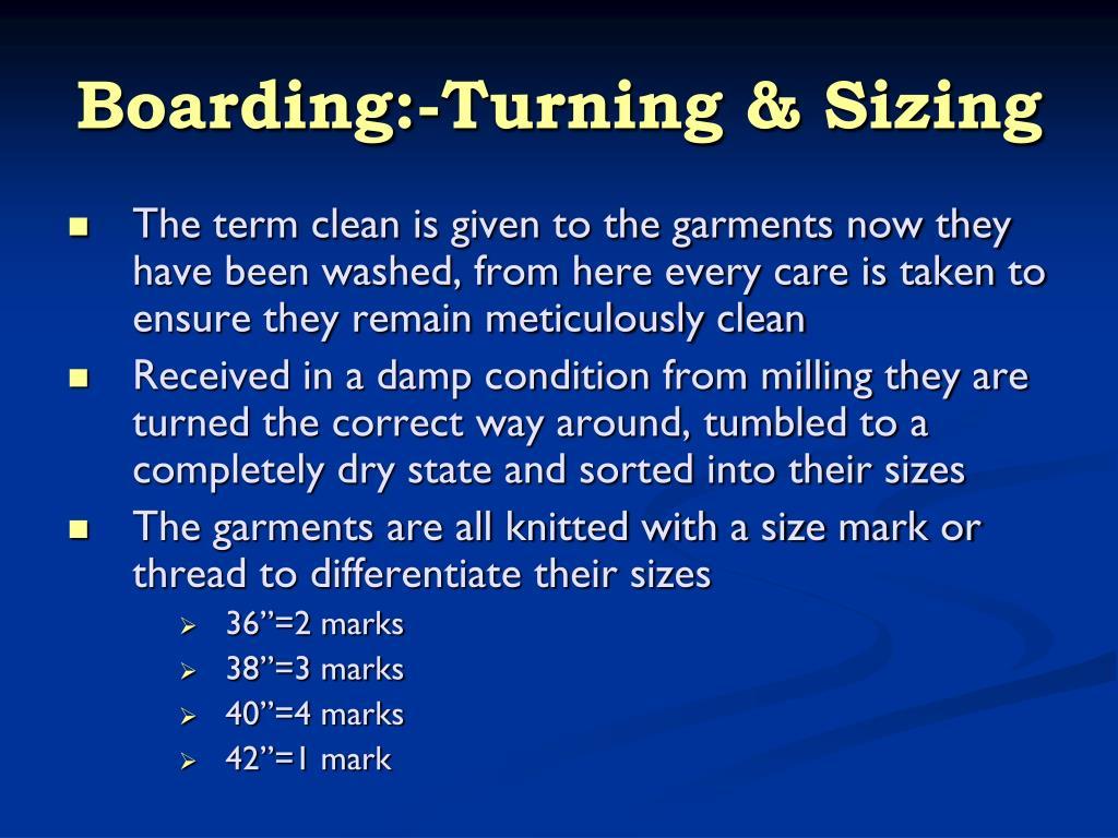 Boarding:-Turning & Sizing