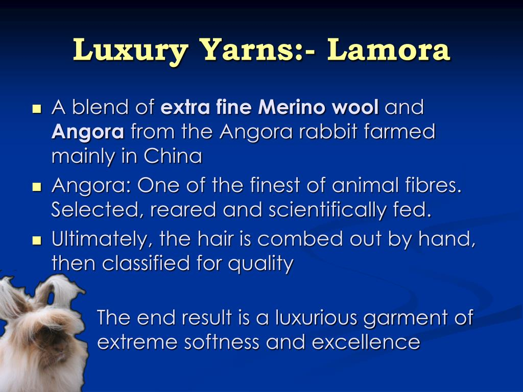 Luxury Yarns:- Lamora