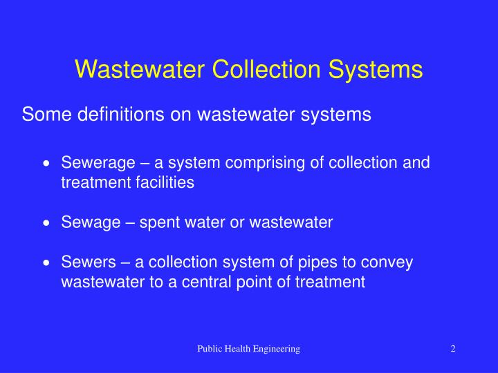 Wastewater collection systems2