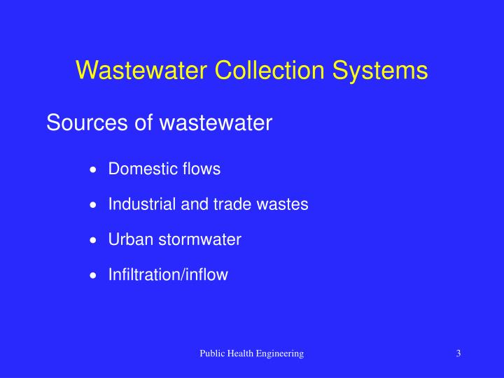 Wastewater collection systems3