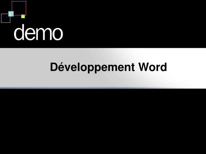Développement Word