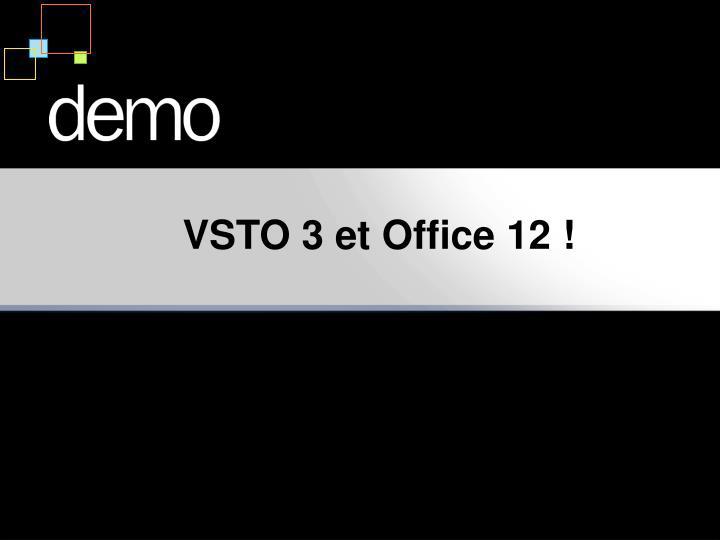VSTO 3 et Office 12 !